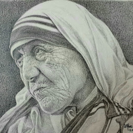 The Saint of Calcutta by Alfonso Rahardja - Drawing All Drawing