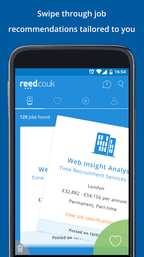 reed.co.uk Job Search Screenshot 0