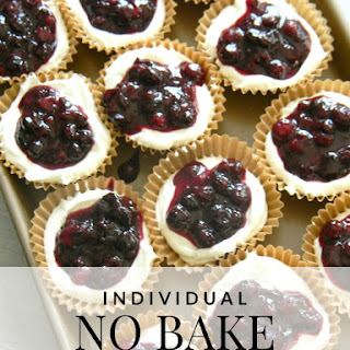 Individual No Bake Cheesecakes