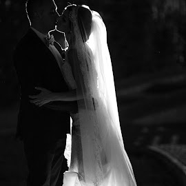 Sealed with a kiss by Diana Toma - Wedding Bride & Groom ( love, kiss, wedding, couple, bride, groom )