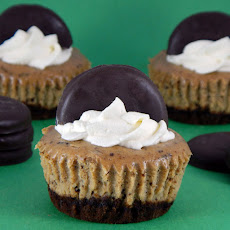 Thin Mint Cookie Cheesecakes