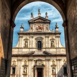 Certosa di Garegnano, Milano by Andrea Conti - Buildings & Architecture Public & Historical ( milan, garegnano, italia, church, exterior, architecture, certosa di garegnao, italy, milano )