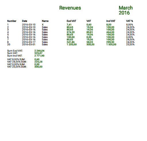 VAT Pro + Expense and Revenue - screenshot