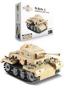 """Конструктор серии """"Brick Battle"""", легкий танк PzKpfw II"""
