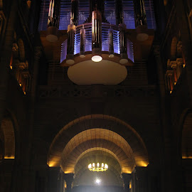 To the light by Els He - Buildings & Architecture Public & Historical ( infalling light, church, enther, inside, welcome,  )