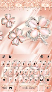 Coral Luxury Clover Keyboard Theme for pc
