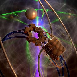 Ying Yang Gear Box by Rick Eskridge - Illustration Sci Fi & Fantasy ( fantasy, jwildfire, mb3d, fractal, twisted brush )