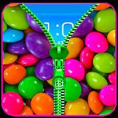Candy Zipper Lock Screen Prank APK for Bluestacks