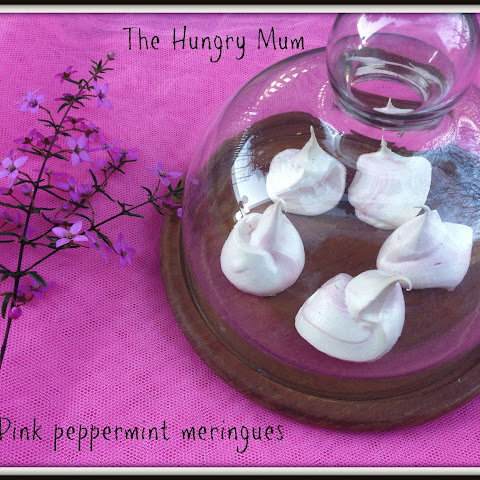 Pink Peppermint Meringues Using Three Eggwhites