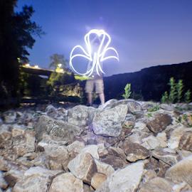 Clover by Jack Scott - Abstract Light Painting ( drop, lake, bridge, drain, rocks )