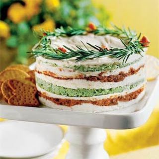 Layered Sun-dried-Tomato-and-Basil Spread