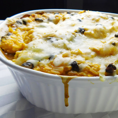 Mexican Rice & Black Bean Casserole (With Chicken)