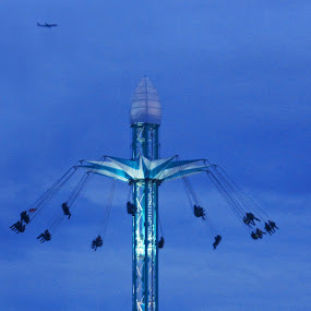 Flying High by Stephanie Moore - Public Holidays Christmas ( london, plane, hyde park, chairs, winter wonderland, christmas, high, sky chairs )