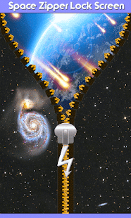 Space Zipper Lock Screen - screenshot