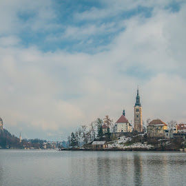 by Mario Horvat - Buildings & Architecture Public & Historical ( slovenija, slovenia, bled, castle, lake, island,  )