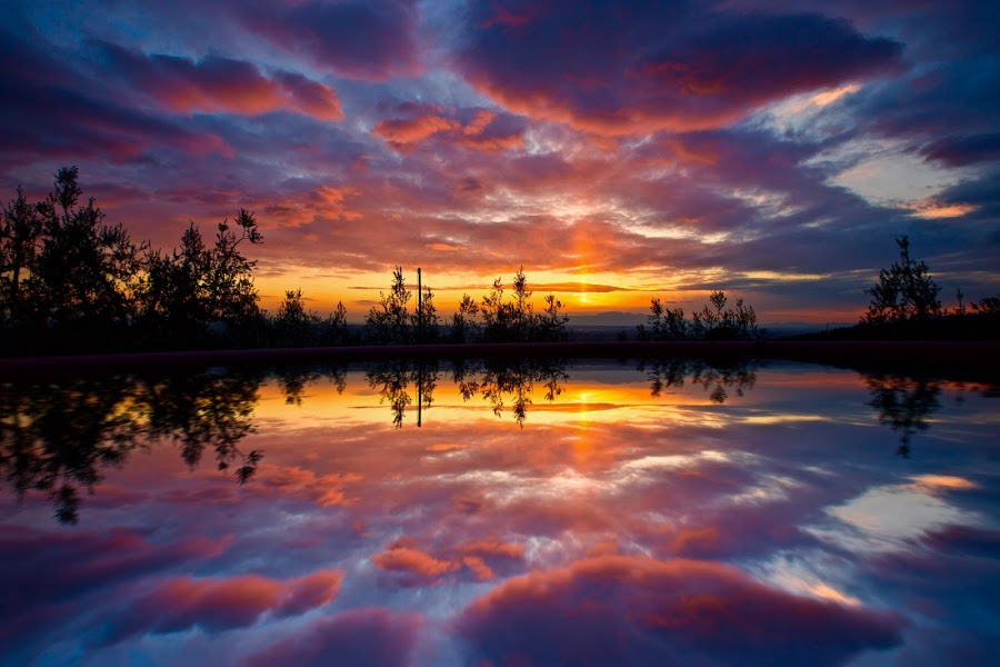 This is my vision of Paradise by Fabrizio Reali - Landscapes Sunsets & Sunrises ( mirror, water, clouds, canon, reflection, sky, nature, colors, sunset, reflections, landscape,  )