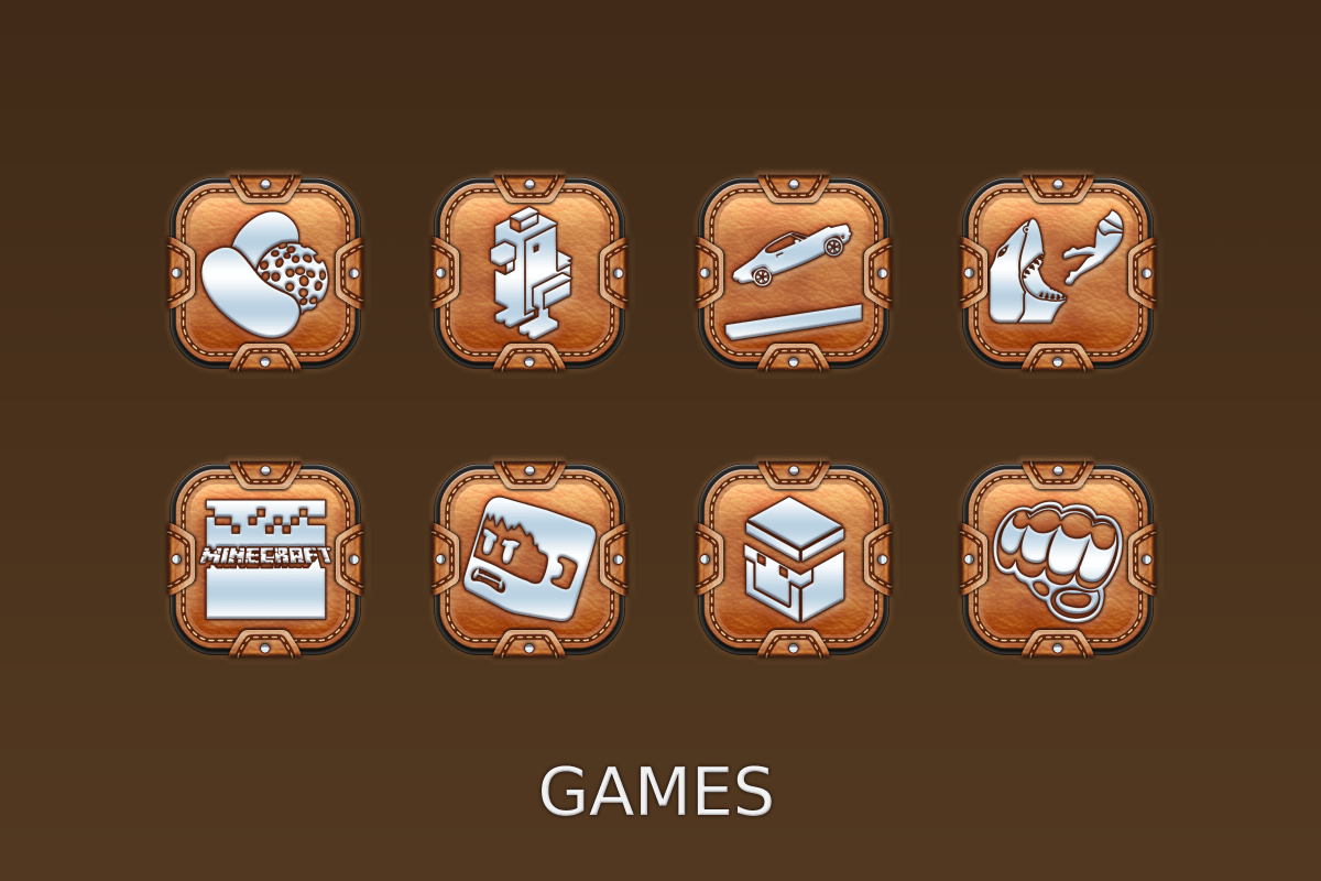 Leather Pouch-Icon Pack Screenshot 4
