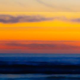 Sunset Inspired by Rothko by Chris Seaton - Digital Art Places ( colorful, sunset, digital art, ocean, blocks )