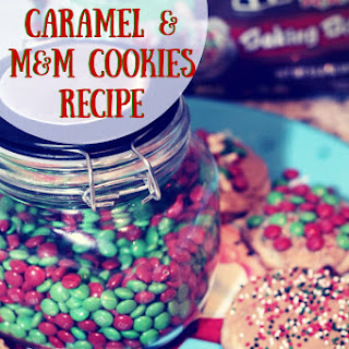 Salted Caramel & M&M Cookies