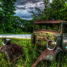 Paddy Wagon II by Chris Cavallo - Transportation Automobiles ( old car, police, maine, paddy, cop, wagon, keystone, rusty, rust, antique, decay, abandoned )