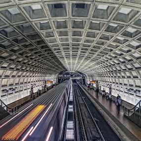 Washington DC Metro Station by Daniel Schwabe - Travel Locations Subway ( subway, le, station, metro, train, washington dc, motion, usa )
