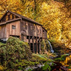 Grist Mill by Ivan Johnson - Buildings & Architecture Public & Historical
