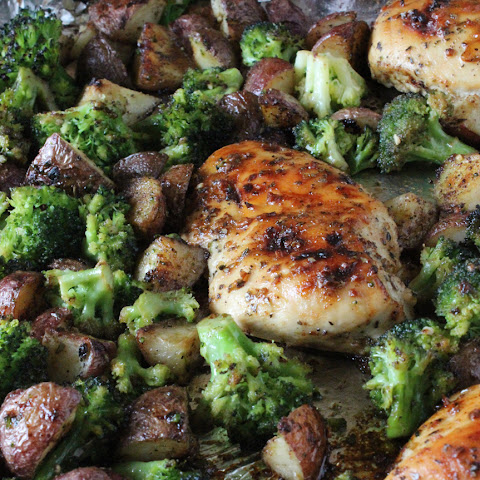 One Pan Chicken and Broccoli