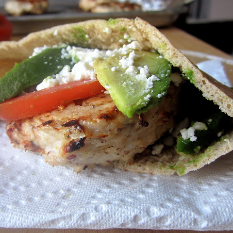 Turkey Burger Pitas with Avocado & Feta