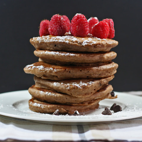 Double Chocolate Milk Pancakes