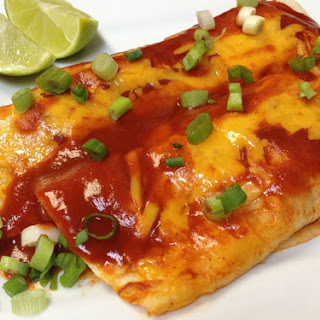 Vegetarian Enchiladas with Crumbled Soy and Cauliflower