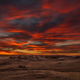The Sun's Blood by Michael Johnerson - Landscapes Sunsets & Sunrises ( amazing, red, montana, sunrise, spring )