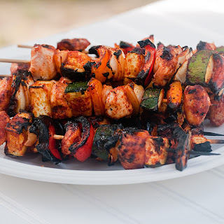 Blackened Chicken and Vegetable Skewers