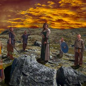 Vikings by Janne Monsen - People Group/Corporate ( vikings, landscape, people, composite, norway )