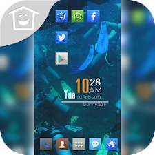 Lively blue landscape theme