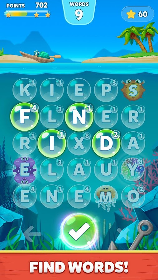 Bubble Words - Letter Splash Screenshot 0