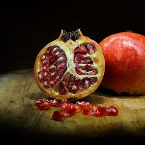 ~Precious Pomegranate~ by Suehana SuZie - Food & Drink Fruits & Vegetables ( fruit, stock, red, pomegranate, still life, wallpaper,  )