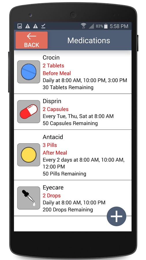 Medical Reminder Screenshot 1