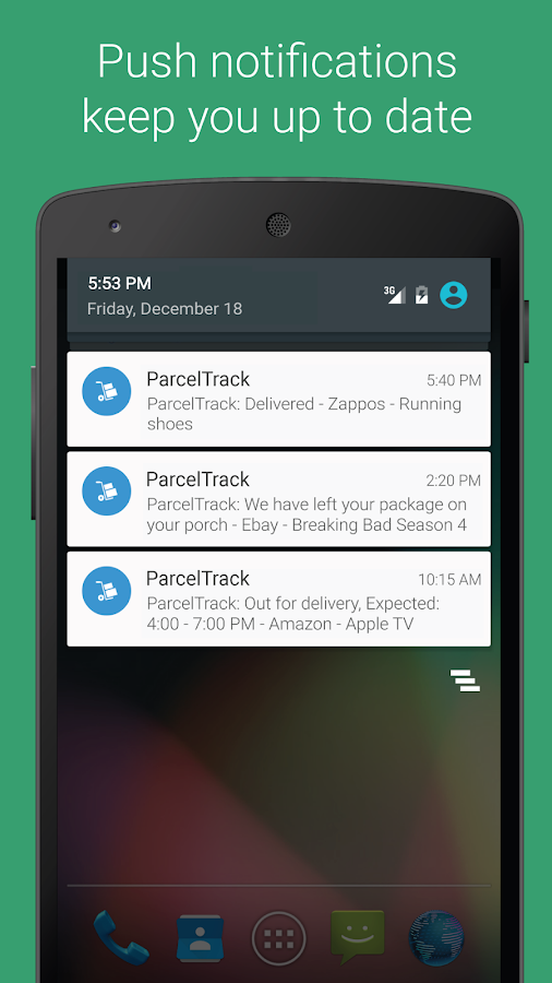 ParcelTrack - Package Tracker for Fedex, UPS, USPS Screenshot 3