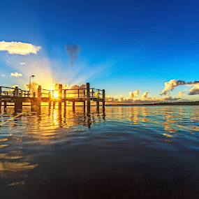 One Light One Life by Andy Hutchinson - Landscapes Sunsets & Sunrises ( south coast nsw, australia, shoalhaven, sunrise, river )