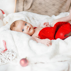 christmas by Krisztina Fejér - Babies & Children Babies ( love, lights, snow, christmas, baby girl, baby )
