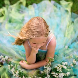 Flower Girl by Sandra Nichols - Wedding Other ( outdoor wedding, indigoblue photography, blue, wedding, green, flowergirl )
