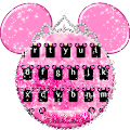 App Pink Cute Minny Bowknot Keyboard Theme apk for kindle fire