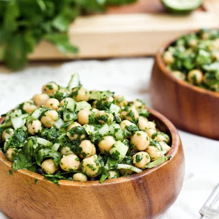 Chickpea Salad Coriander Recipes