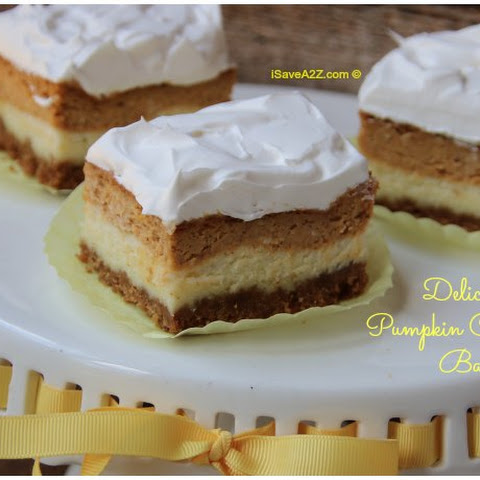 Easy Pumpkin Cheesecake Bars Recipe with Graham Cracker Crust