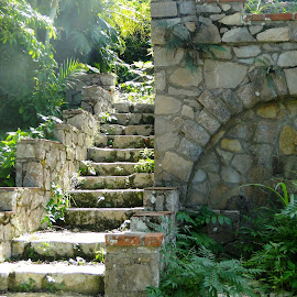 Lighted Stairway by Sherri Hillman - Buildings & Architecture Other Exteriors