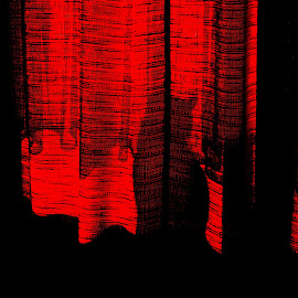 alf red by Mihai Nita - Abstract Light Painting ( cat, red, digital art, artistic object, red light, black and red, courtain )