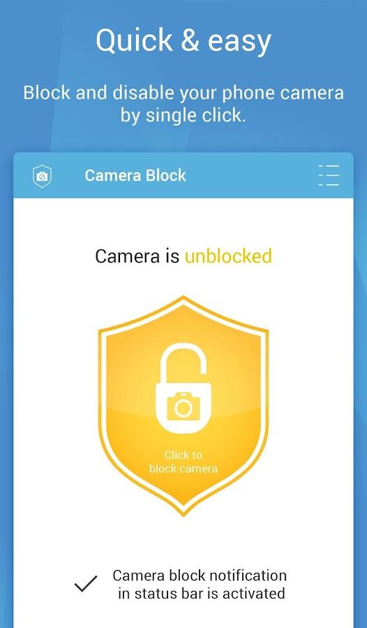 Camera Block - Spyware protect Screenshot 1