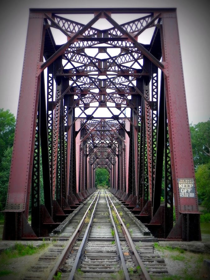 maumee river train trestle by Rachel East-Pniewski - Transportation Trains