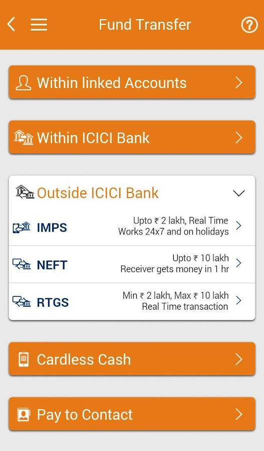 ICICI Mobile Banking - iMobile Screenshot 2