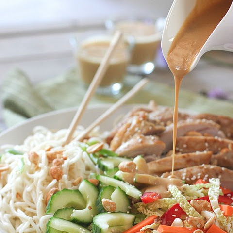 Thai Chicken and Noodle Salad with Easy Peanut Dressing